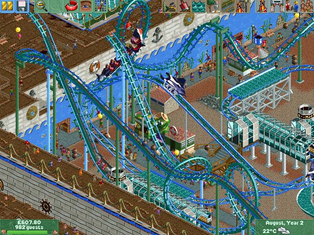Rollercoaster Tycoon Deluxe Lutris